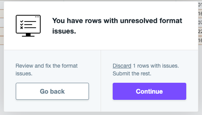 11 Rows unresolved format